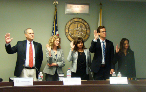 Five Attorneys appointed by Gov Brown on DFEH Council - Oath taking Ceremony June 18, 2013
