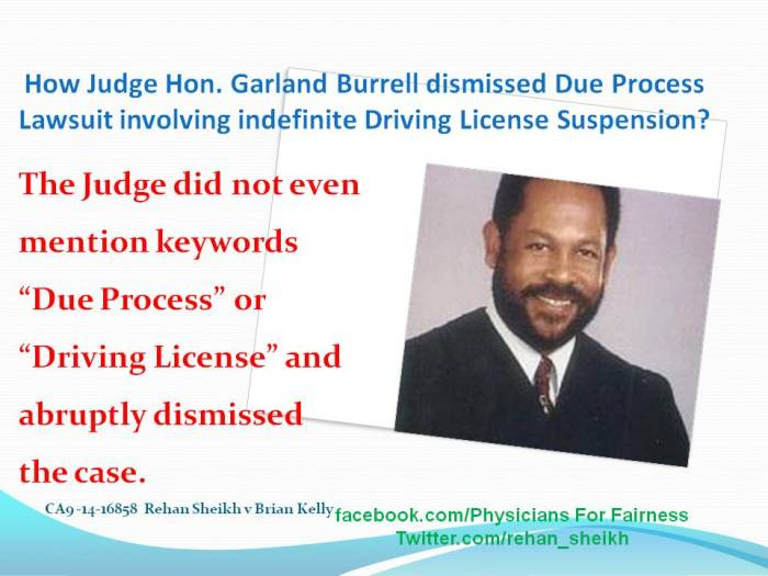 Garland Burrell How dismissed