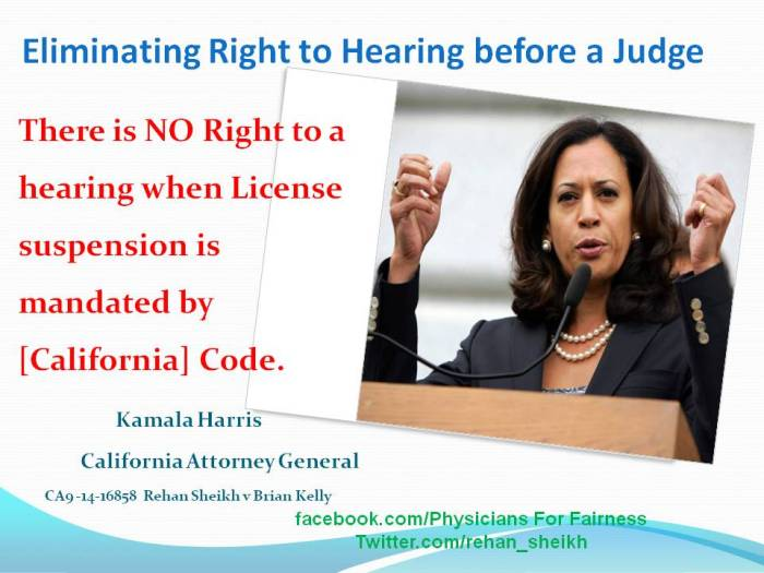 Kamala Harris Right to Hearing
